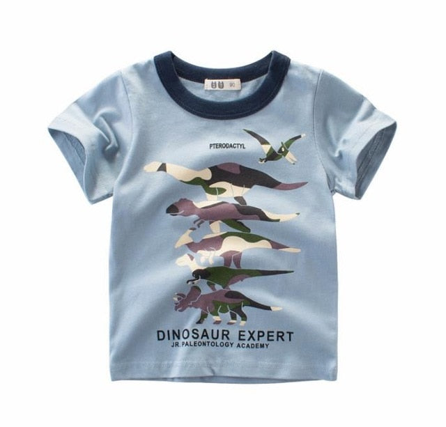1ed5a028e440 ... Baby Boy 100% Cotton Tops Summer 2019 Boys Short Sleeve T Shirts Girls  Cartoon Tee ...