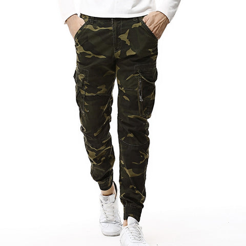 Fashion Spring Mens Tactical Cargo Joggers Men Camouflage Camo Pants Army Military Casual Cotton Pants Hip Hop Male Trouser
