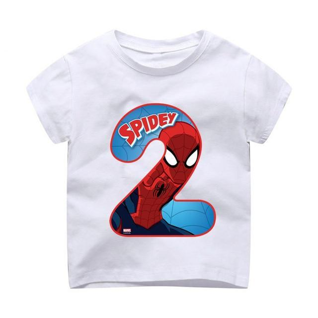 Kids Happy Birthday Avengers Number 19th T Shirts Boy And Girl