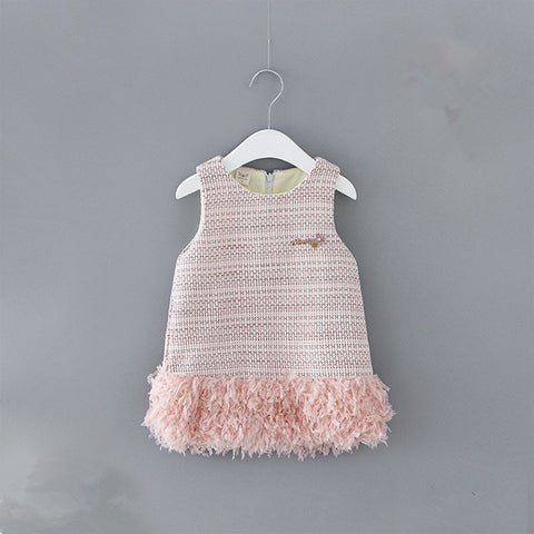 Newborn Baby Dress Winter Plus Velvet Party Clothing Toddler Petals Decoration Events Birthday Christening Dresses 0-2Y