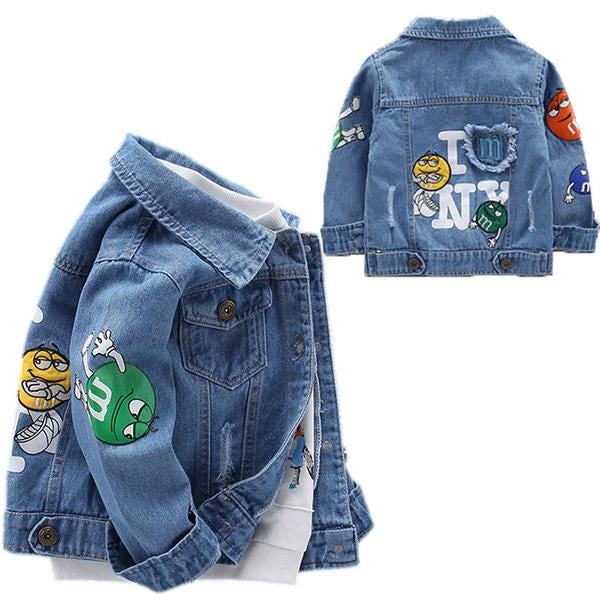 Children's Jacket Denim Boys broken hole Jean Jackets Girls Kids clothing baby coat Casual outerwear Spring Autumn