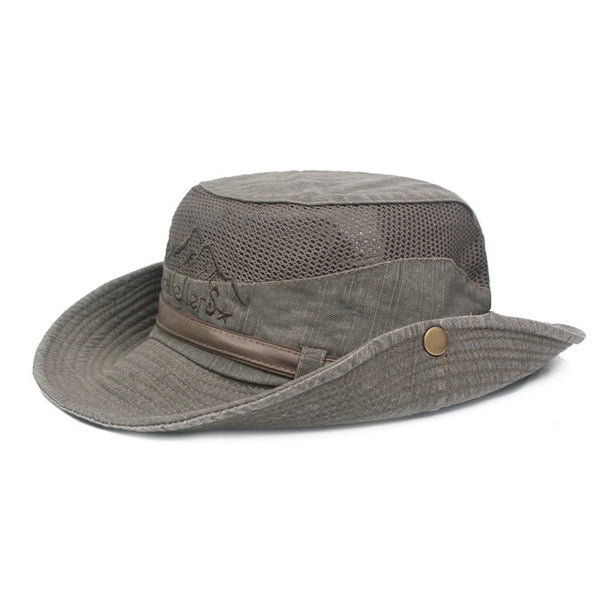 Hat Man Go Fishing Hat Spring Summer Outdoors Sun Hat Cotton Net Cap Ma'am Mountaineering Hats