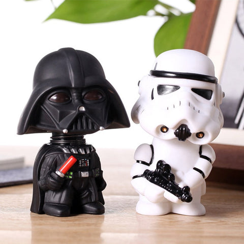11cm Star Wars Figure Action Stormtrooper/Darth Vader Action Figure Toy Bobble Head Star Wars Figures For Children Kids Toys