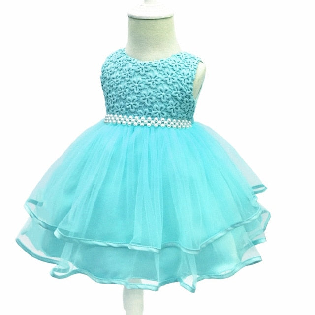 97b56181bd0c1 Flower Baby Girl 1 Year Birthday Party Dress Kids Clothes Girl Infant Party  Baby Baptism Christening Gowns Dress fantasia bebes