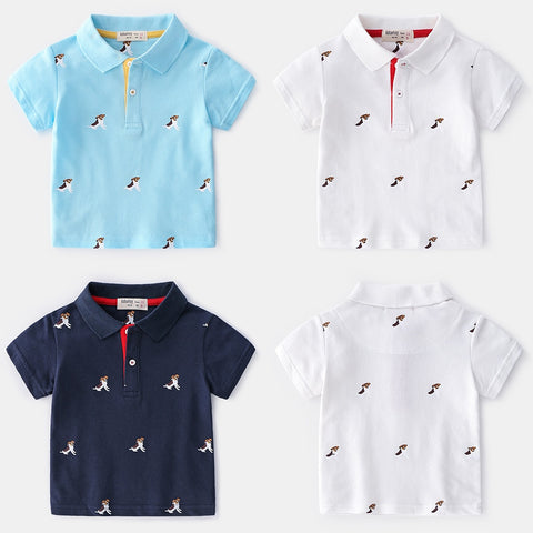 Summer Boys Tees And Polos Short Sleeve Boys Polo Shirt Kids Printed Polo Shirts Clothing