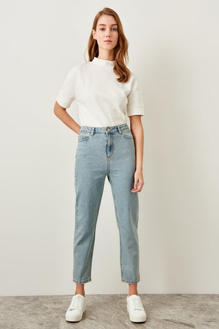 Light Blue High Waist Jeans Mom
