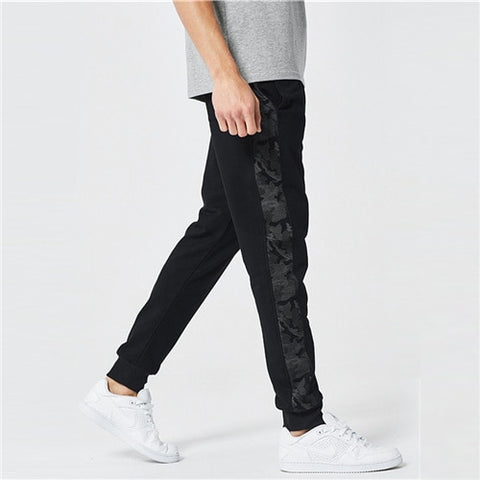 Men Camo Stripe Side Drawstring Pants 2019 Designer Autumn Male Spring Trousers Basic Black Mid Waist Long Pants