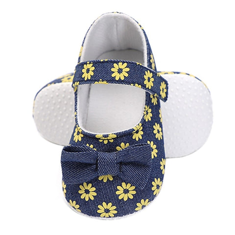 Newborn Baby Shoes First Walkers Shoes Little Daisy Print Female Baby Girl Toddler Shoes Small Fresh Princess Shoes