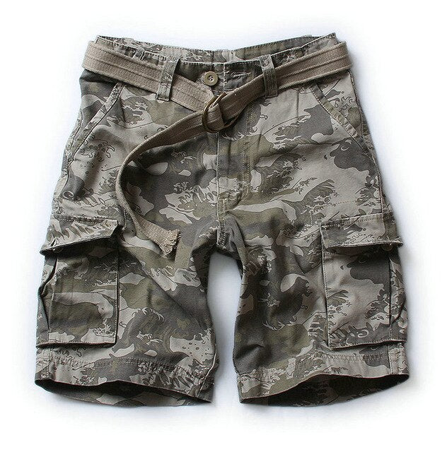 New Men Army Military Tactical Shorts Casual Multi-Pocket Mens Cargo Shorts Homme S-XXL