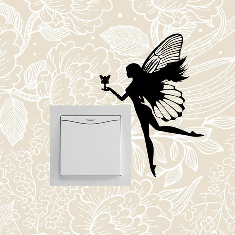 Switch Delicate Extraordinarily Decoration Artistic Butterfly Fairyism Wall Sticker Individuality 16ss0072