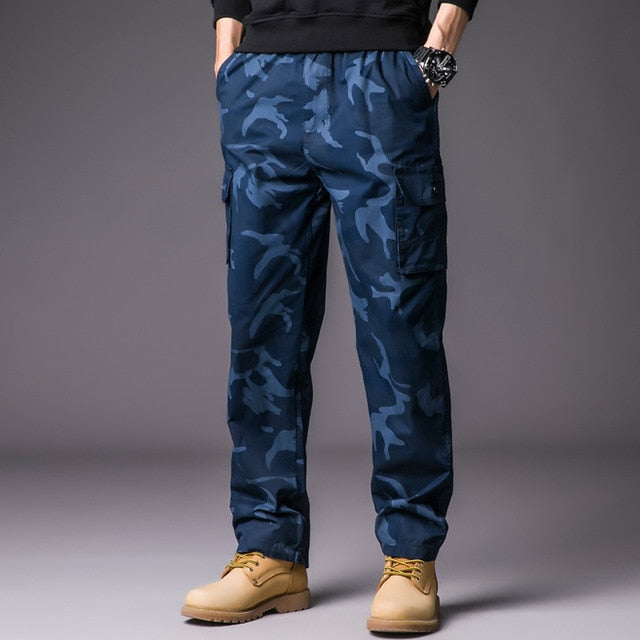 585e209f9be Mens Cargo Pants with Many Pockets Military Streetwear Camo Pants Big Size Camouflage  Pants Men Hip ...