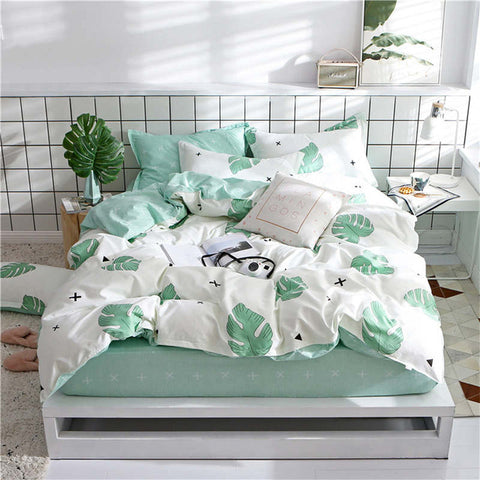 Pattern Bedding Set 1.5/1.8m Bed Fitted Sheet Double Elastic Sheet Bedspread Duvet Cover Underwear Decor Home Textiles