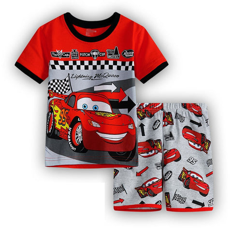 6 Design New cotton car mobilization home service children's clothing summer suit air conditioning suit cartoon pajamas