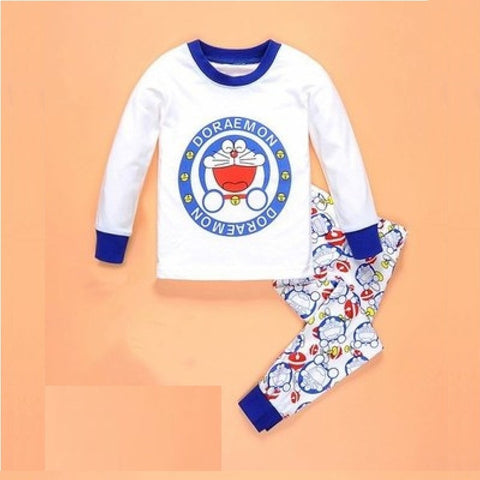 New spring winter child pyjamas set baby girls boys sleep wear 2-7 y cartoon kids pajama sets cotton long sleeve clothing set