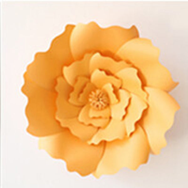 2pcs 20cm DIY Artificial Paper Flowers Wedding Decoration Backdrop Happy Birthday Party Decoration Kids Paper Crafts DIY