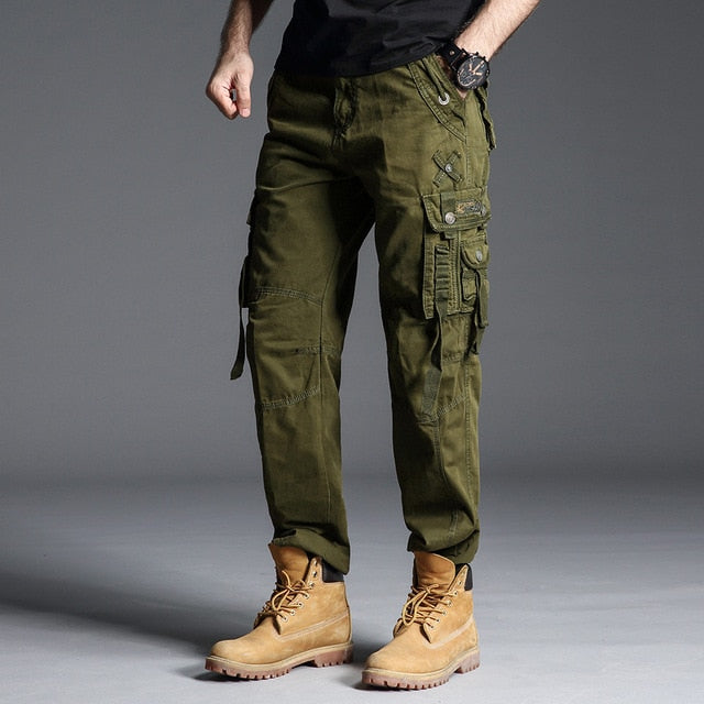 cargo pants Mens military style Army Green Camouflage Army Tactical Pants Men Military Trousers Straight Trousers For Men 6662