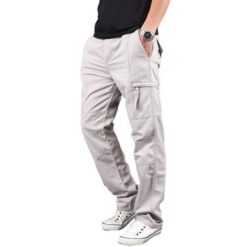 Men's Cargo Pants Men 100% Cotton pant Army Military Pants Cotton Multi Pockets Stretch Man Casual Trousers 18670-5