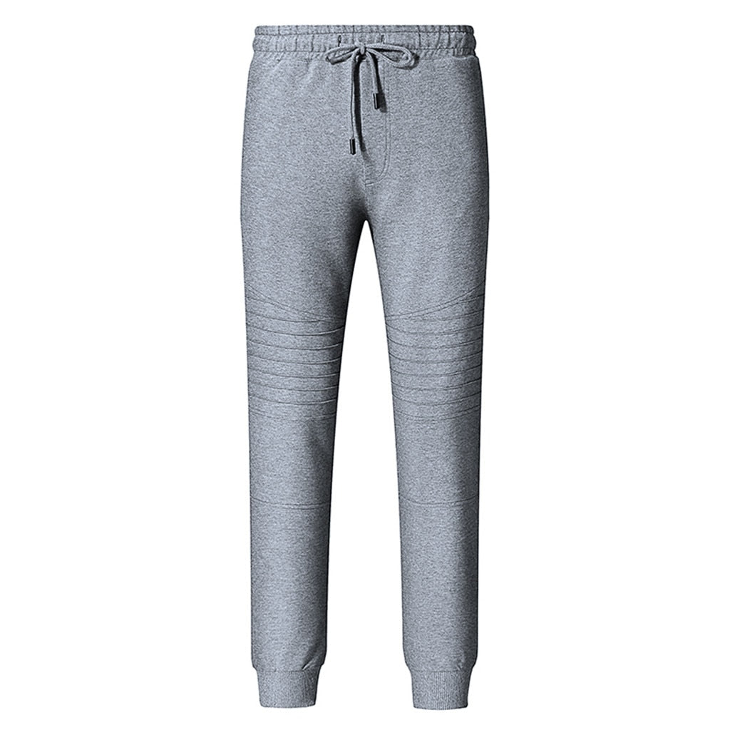 Casual Joggingbroek.Men S Streetwear Pants Casual Plain Fold Patchwork Fold Sports Home