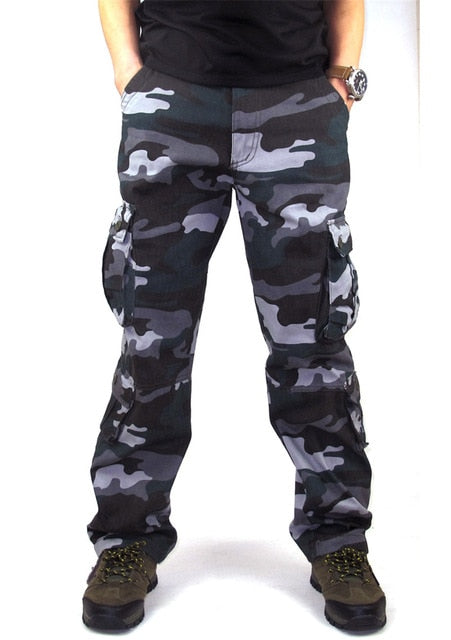 grand choix de 56d19 cb968 Camouflage Pants Men Casual Camo Cargo Trousers Joggers Streetwear Pantalon  Homme Multi-pocket Military Baggy Tactical Pants 44