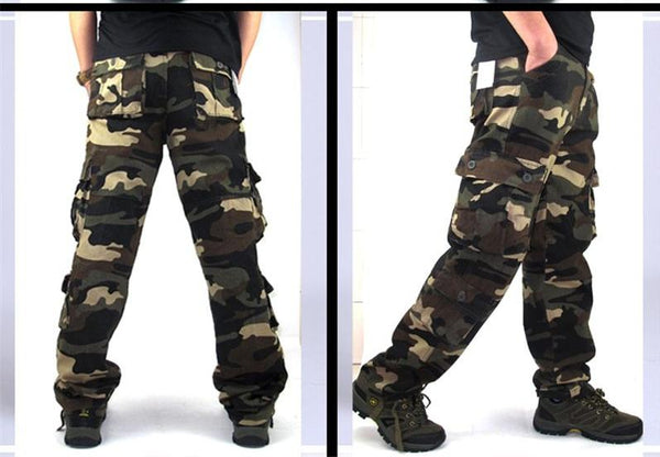 Camouflage Pants Men Casual Camo Cargo Trousers Joggers Streetwear Pantalon Homme Multi-pocket Military Baggy Tactical Pants 44