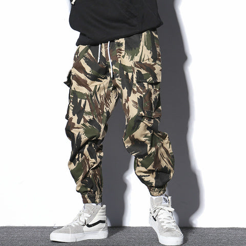 Men Loose Fashion Casual Camouflage Cargo Pant Streetwear Hip Hop Harem Trousers Male Joggers Sweatpants Cross Pants