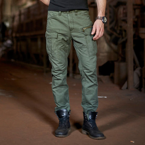 Fashion Pure Cotton Excellent Quality Cargo Pants For Men Loose Multi Pockets Military Trousers