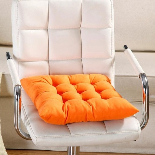 40cmx40cm Chair Seat Pads With Cord For Patio Home Car Sofa Office Decoration Square Solid Seat Cushion Drop Shipping