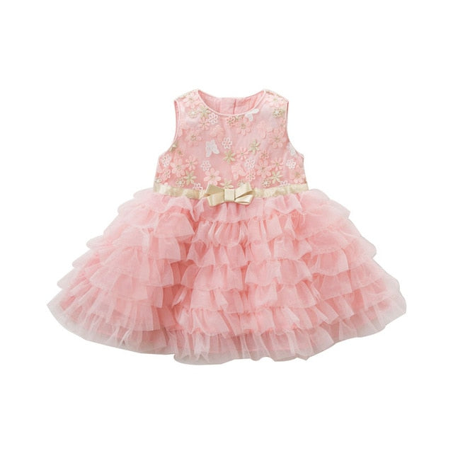 a11769101 JOHNKART.COM. $63.00 USD. Summer baby girl princess clothes children  birthday party wedding dress kids embroidered boutique ...