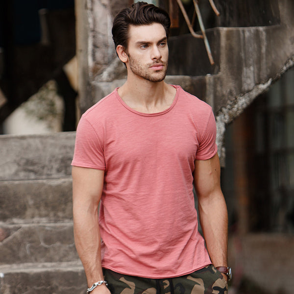 100% cotton T shirt Men Casual Soft Fitness Shirt Men T Shirt Tops Tee Shirts O Neck Short Sleeve Tshirt Men
