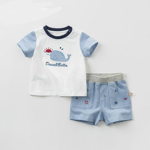 Summer baby boys clothing sets toddler children suit high quality toddler outfits Clothing Suits