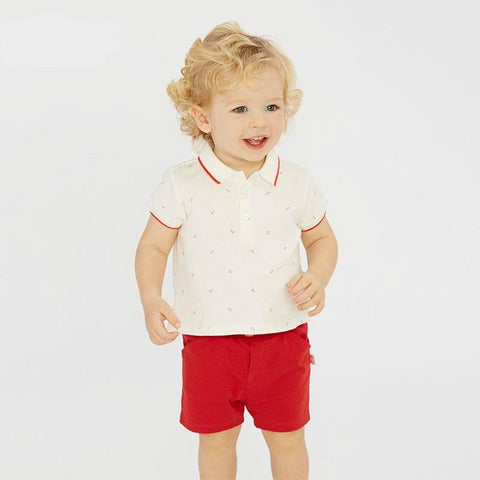 Summer baby boy clothes children clothing sets infant toddler high quality tops+shorts  2 pcs suits