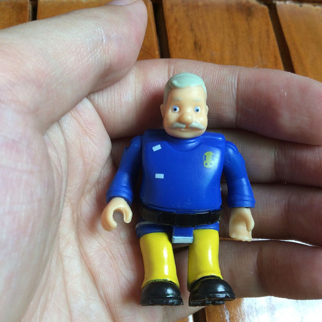 Original 1pcs joint movable Fireman Sam Action PVC Toys for kids