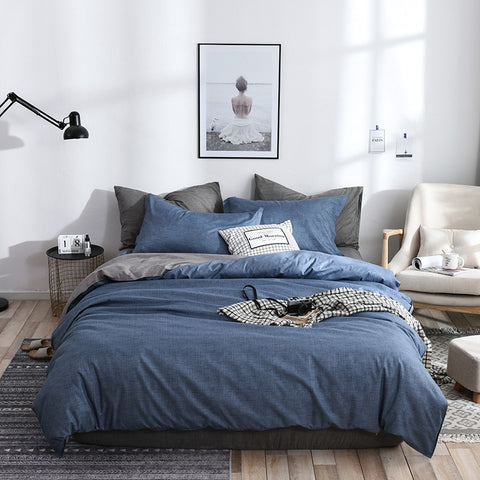 New product 100% polyester bedding set pillowcase flat sheet duvet cover Twin Full Queen King Size