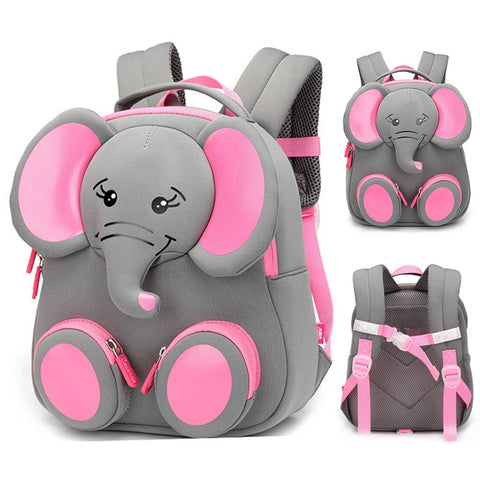 New Fashion Children School Bags for Girls Boy 3D Elephant Design Student School Backpack Kids Bag Mochila Escolar