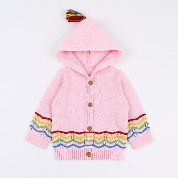 Baby Sweaters for Girls Cardigan Spring Long Sleeve Toddler Boys Knitted Jackets Coats Hooded Newborn Infantil Children Clothing