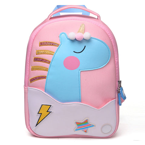 New Fashion Unicorn School Bags for Girls Boy Cute Animals Design Children's backpack Student Kids Bag Gift