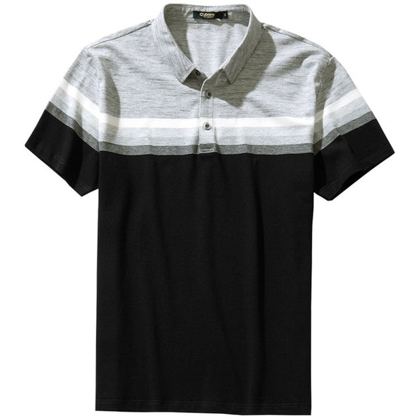Teenage Boy Smart Causal Contrast Color Polo Shirt Men Loose Lapel Short Sleeve T-shirts Sports Golf Undershirt
