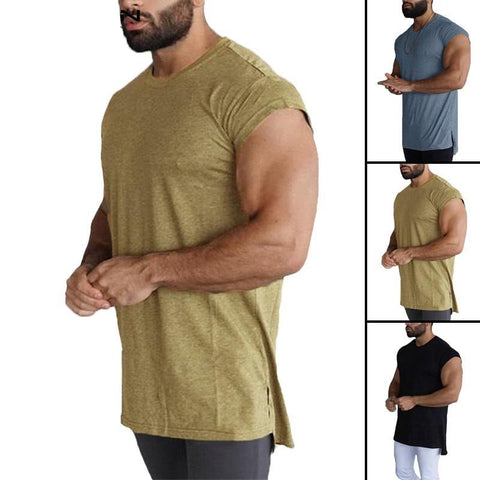 64214ac3 Fashion Men T Shirt Tops Short Sleeve Summer Men Clothes Crew Neck Camisa  Joggers Gyms Loose