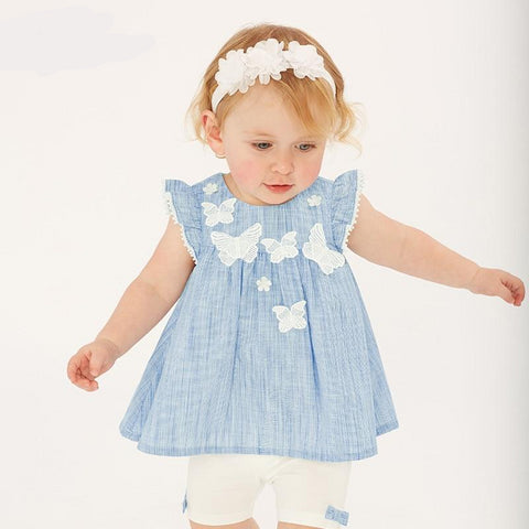 Spring baby fashion clothing sets girls lovely short sleeve suits children print clothes