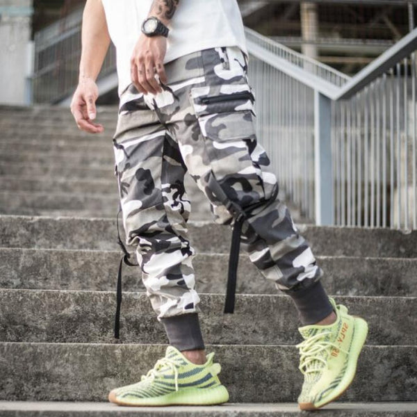 Men Multi-pocket Harem Pants Trousers Men Streetwear Punk Cargo Pant Hip Hop Casual Trousers Joggers Hombre