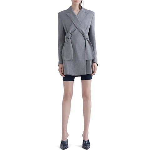 New High Quality Autumn Spring Women's Blazer Elegant Lady Blazers Coat Suits with Bowknot Female Jacket Suit