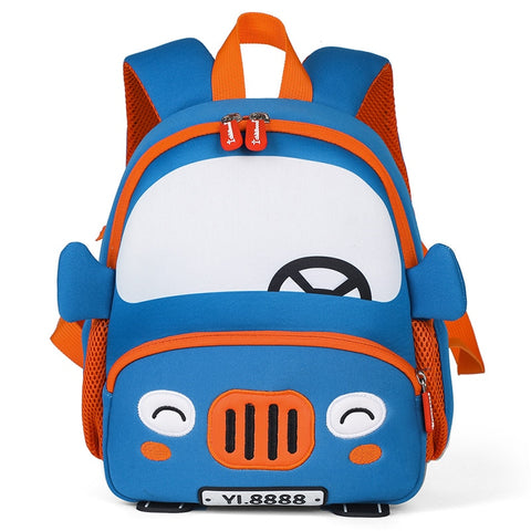 3D Cartoon Car Backpacks for 2-5 Years Old Children Fashion Cute Kindergarten Kids School Bags Boy Schoolbag