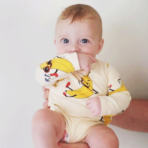 Baby Clothes New Born Baby Boy Girls Fashion Romper Kids Fruit Animal Print Jumpsuit Infant Toddler Design Jumpsuits Romper