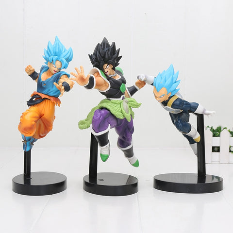 19-22cm Dragon Ball Z SUPER ULTIMATE SOLDIERS Broly Broli Son goku vegeta THE MOVIE Broly PVC Action Figure Toys