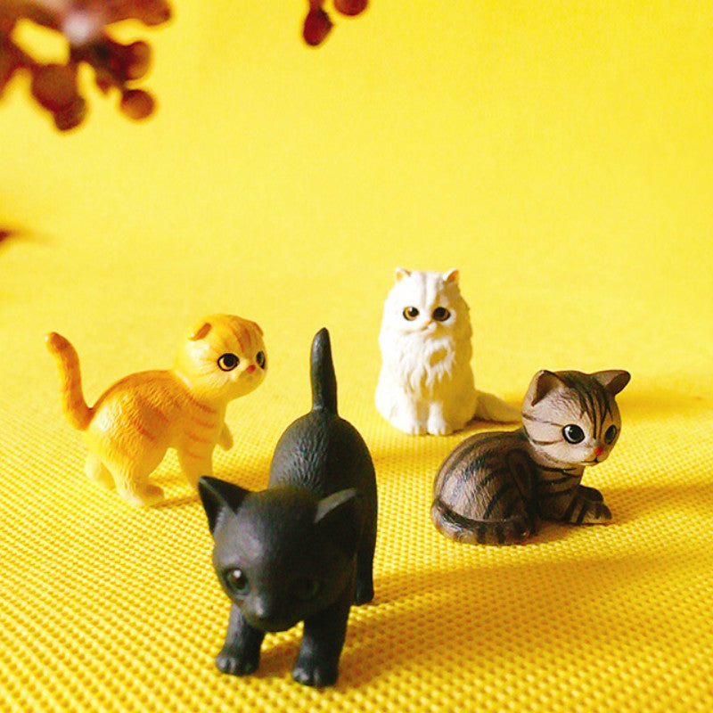 limited edition~1 pcs/kitty cat/miniatures/lovely cute/fairy garden gnome/moss terrarium decor/crafts/bonsai/doll house/figurine