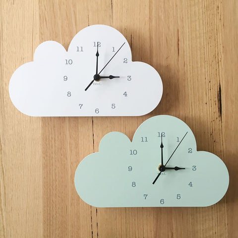 Nordic Cute Cloud elephant shape Wall Clock Monochrome for Children kids room decoration Figurines gift Photography props 1piece