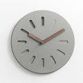 12 inches European Style Gray Eco-friendly Wooden Watch Modern Design Home Decorative Square Concrete Wall Clock