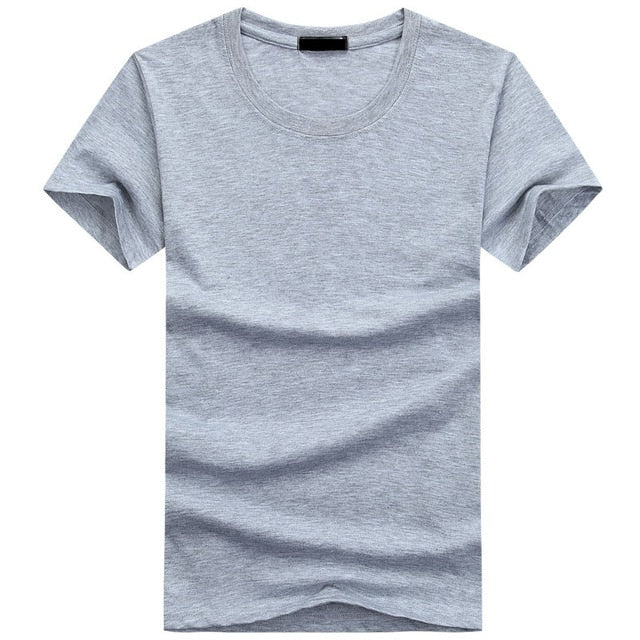 High Quality Fashion Mens T Shirts Casual Short Sleeve T-shirt Mens Solid Casual Cotton Tee Shirt Summer Clothing 5XL TX112