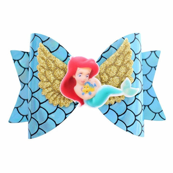 Princess Wing Hair Accessories for Girls Children Multi-layer Glitter Hair Bows Clips Handmade elsa anna Hairpins Kids Headdress