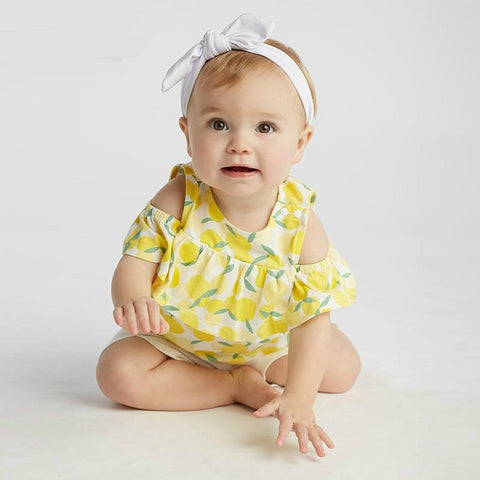 Summer baby girl clothing sets children lovely print suits toddler infant high quality clothes girls outfit